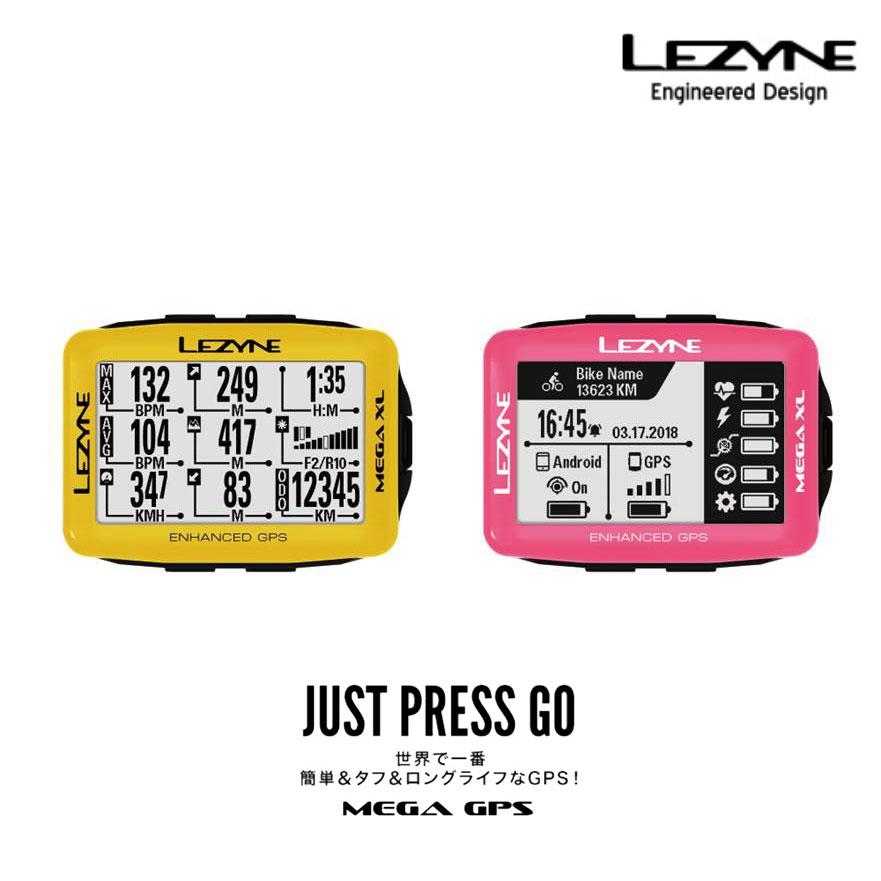 【最大5000円オフクーポン+P最大28倍(11/6 0時まで)】【限定カラー】MEGA XL GPS(メガXL GPS)【大画面でコンパクト・最長48時間駆動GPS内蔵サイクルコンピューター】LEZYNE(レザイン)スピードメーター・サイクルコンピュータ