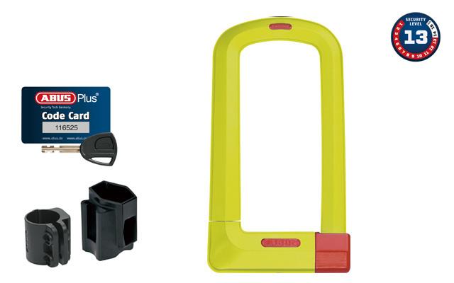 【P最大18倍(11/19 10時まで/エントリ含)】フレームプロテクトデザインのU字ロックU Grip Plus 501(U-LOCK)ABUS(アブス)