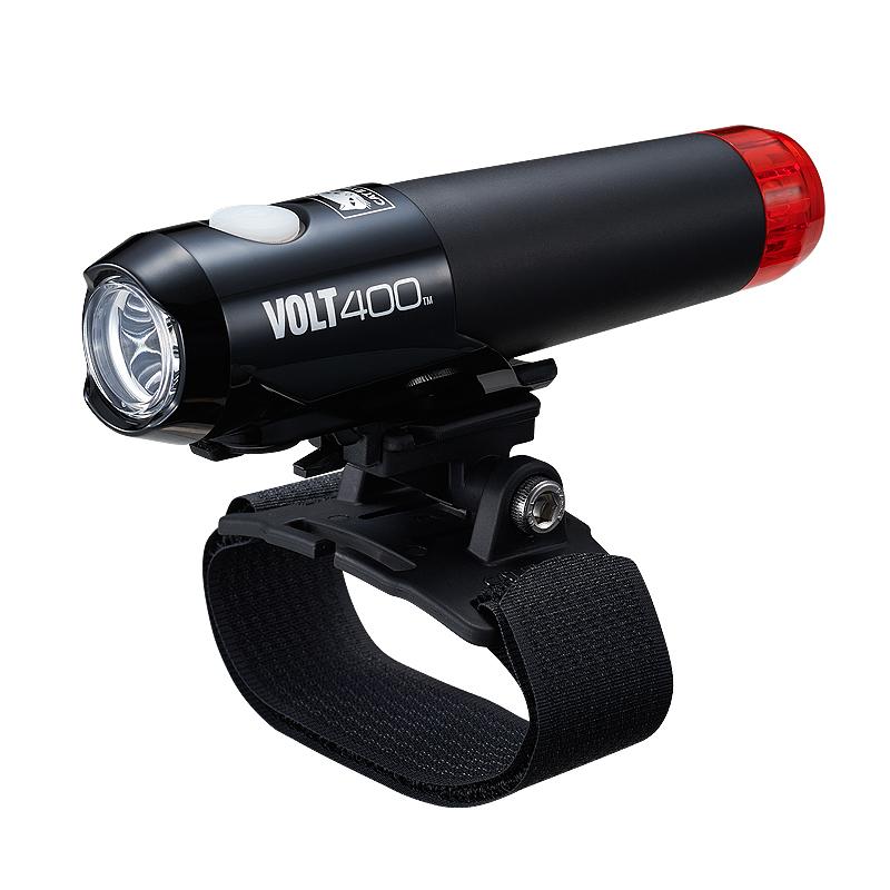 【ポイント最大17倍(7/14 0時まで)】前後を照らすVOLTシリーズヘルメットライトCAT EYE(キャットアイ)VOLT400 DUPLEX[HL-EL462RC-H]USB充電ヘッドライト