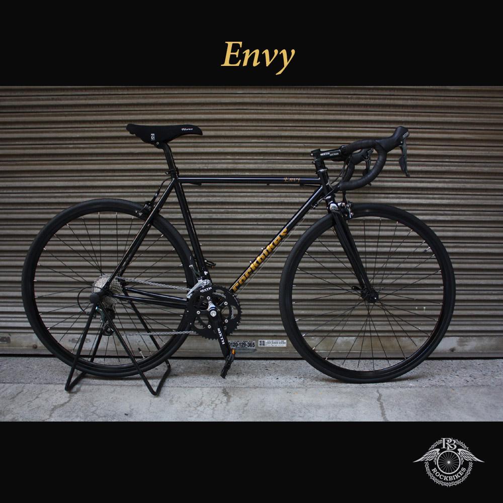 【1都3県送料2700円より(注文後修正)】【ROCKBIKES期間限定特価!】ENVY TIAGRA(エンビー・エンヴィー)【COLOR:COSMO BLACK】ROCKBIKES(ロックバイクス)クロモリロードバイク【送料プランC】 【完全組立】【店頭受取対応商品】