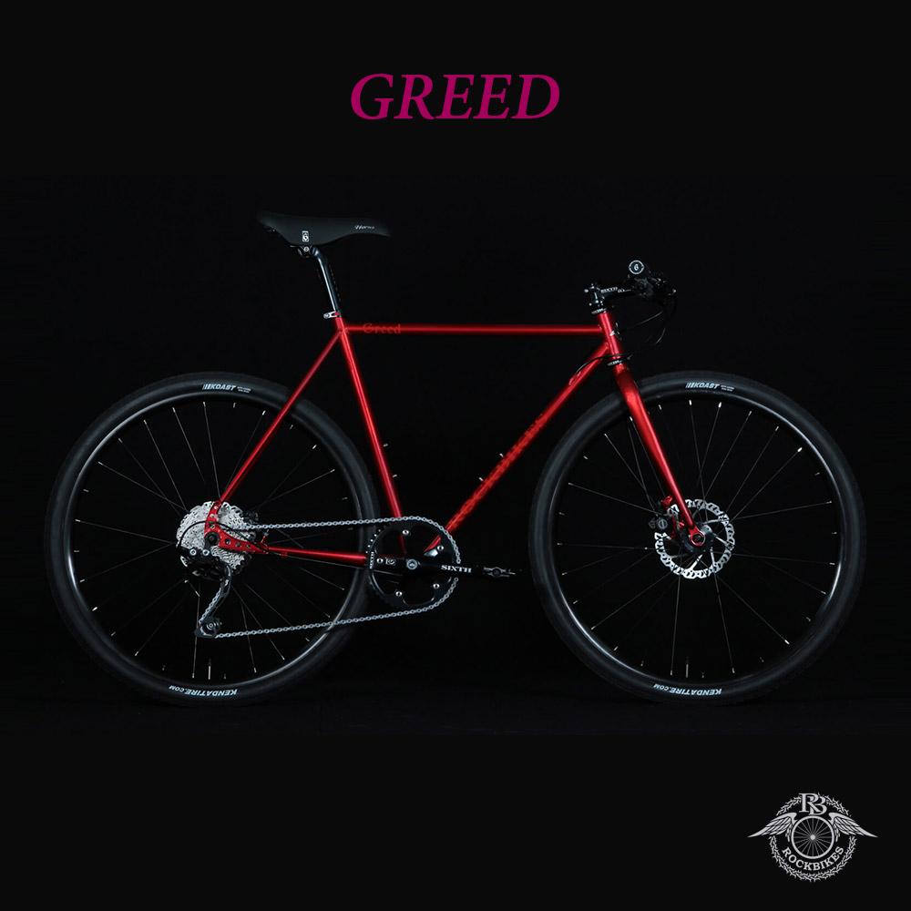 【最大1200円オフクーポン+P最大17倍(11/8 10時まで)】GREED phase3(グリードフェーズ3)【COLOR:GARNET RED】ROCKBIKES(ロックバイクス)27.5/650b採用クロモリクロスバイク【送料プランC】 【完全組立】
