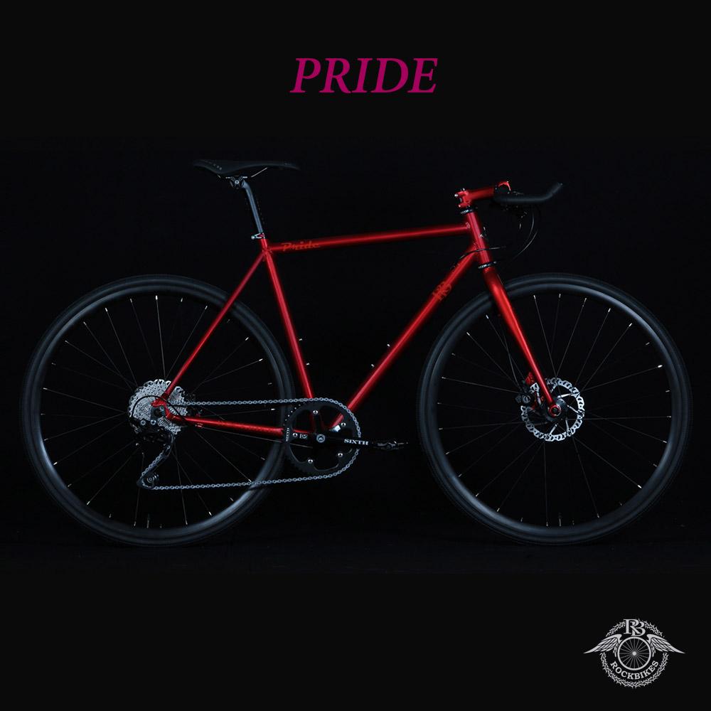 PRIDE phase4(プライドフェーズ4)【COLOR: GARNET RED】ROCKBIKES(ロックバイクス) ブルホーン搭載クロスバイク【ロックバイクスストア限定販売】【送料プランC】 【完全組立】【店頭受取対応商品】