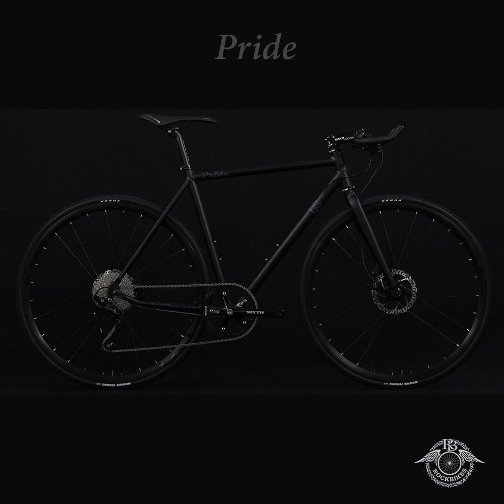 PRIDE phase4(プライドフェーズ4)【COLOR:MATT BLACK】ROCKBIKES(ロックバイクス) ブルホーン搭載クロスバイク【ロックバイクスストア限定販売】【送料プランC】 【完全組立】【店頭受取対応商品】