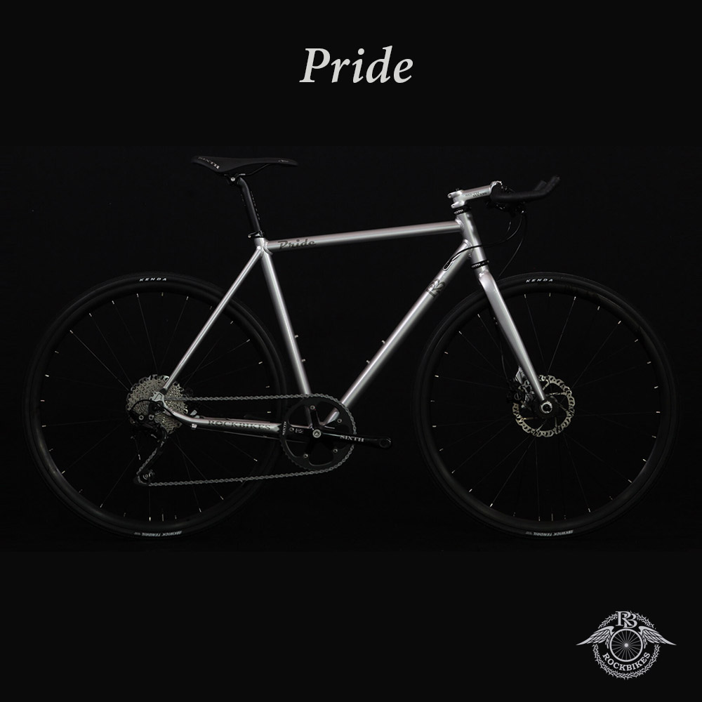PRIDE phase4(プライドフェーズ4)【COLOR:QUICK SILVER】ROCKBIKES(ロックバイクス) ブルホーン搭載クロスバイク【ロックバイクスストア限定販売】【送料プランC】 【完全組立】【店頭受取対応商品】