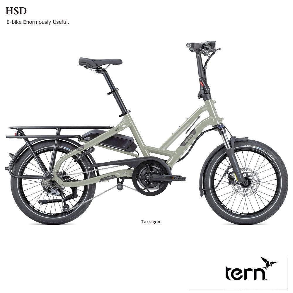 【荷物が大量につめるBOSCH製ユニット電動アシスト】TERN(ターン)HSD P9(エイチエスディP9)折り畳み・フォールディングバイク・E-BIKE(イーバイク)【送料プランC】【testride】