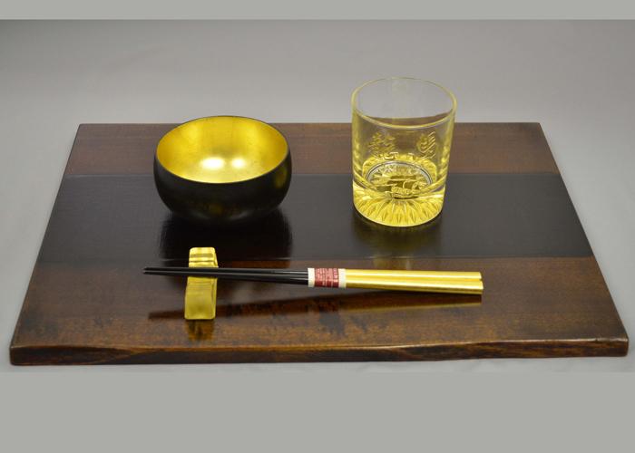 木製漆膳 ロックグラス側面セット