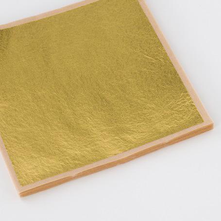【金箔縁付四号色 100枚入】金箔 材料 DIY 工芸用 箔座 HAKUZA