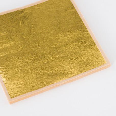 【金箔縁付二号色 100枚入】金箔 材料 DIY 工芸用 箔座 HAKUZA