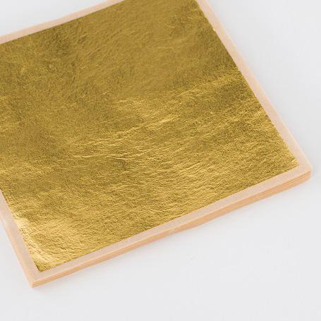 【金箔縁付一号色 100枚入】金箔 材料 DIY 工芸用 箔座 HAKUZA