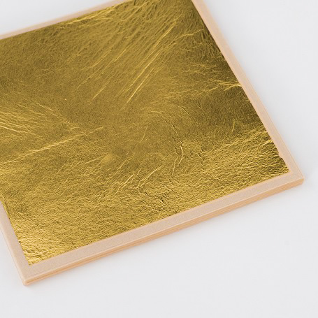 【純金箔縁付24K 100枚入】金箔 材料 DIY 工芸用 箔座 HAKUZA