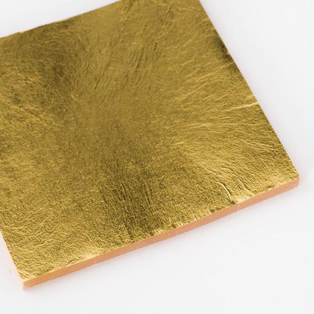 【金箔断切二号色 100枚入】金箔 材料 DIY 工芸用 箔座 HAKUZA