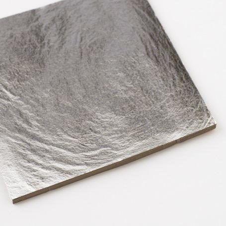 【プラチナ箔 100枚入】白金箔 材料 DIY 工芸用 箔座 HAKUZA
