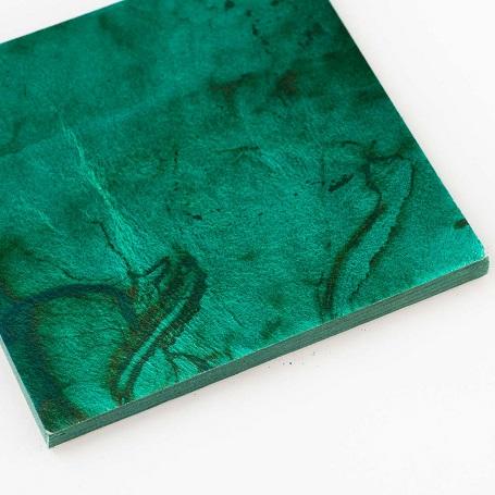 【色箔銀彩マーブル 青貝色(あおがいいろ)3寸6分(100枚入)】虹彩箔 材料 DIY 工芸用 箔座 HAKUZA