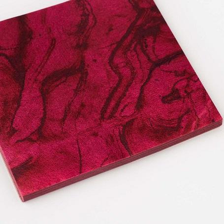【色箔銀彩マーブル 赤色3寸6分(100枚入)】虹彩箔 材料 DIY 工芸用 箔座 HAKUZA