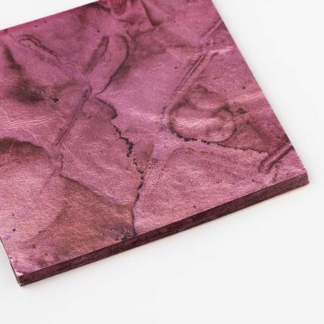 【色箔銀彩マーブル ピンク色3寸6分(100枚入)】虹彩箔 材料 DIY 工芸用 箔座 HAKUZA