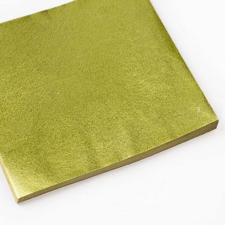 【色箔銀彩 暗緑色(あんりょくしょく)3寸6分(100枚入)】新光箔 材料 DIY 工芸用 箔座 HAKUZA