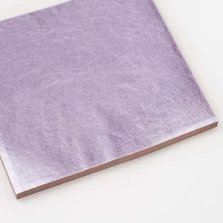 【色箔銀彩 ピンク色淡口(ぴんくいろあわくち)3寸6分(100枚入)】新光箔 材料 DIY 工芸用 箔座 HAKUZA