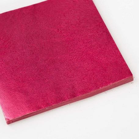 【色箔銀彩 赤色3寸6分(100枚入)】新光箔 材料 DIY 工芸用 箔座 HAKUZA