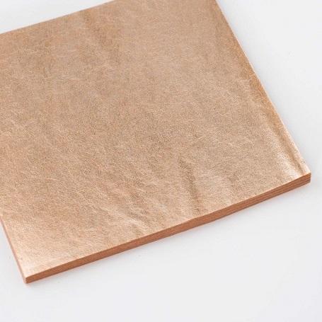 【色箔銀彩 朱色淡口(しゅいろあわくち)3寸6分(100枚入)】新光箔 材料 DIY 工芸用 箔座 HAKUZA