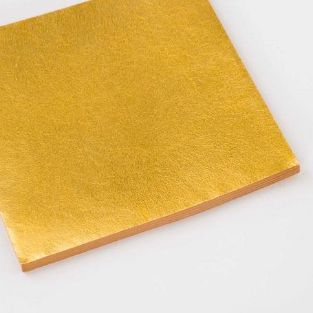 【色箔銀彩 純金色G-5(じゅんきんしょくじーふぁいぶ)3寸6分(100枚入)】新光箔 材料 DIY 工芸用 箔座 HAKUZA