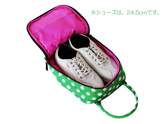 Hanna Hula (Hanna) shoe rack | Polka green 10P05July14