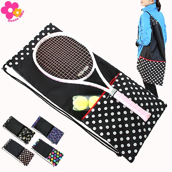 ネコポス利用OK 1点まで バーゲンセール お買い得 ラケットケース 大切なテニスラケットを持ち運びするのに便利なソフトタイプ 10 3まで1点配送で送料無料 ファスナーポケット付き Hanna 収納ポケット付テニスラケットケース ハンナフラ Hula
