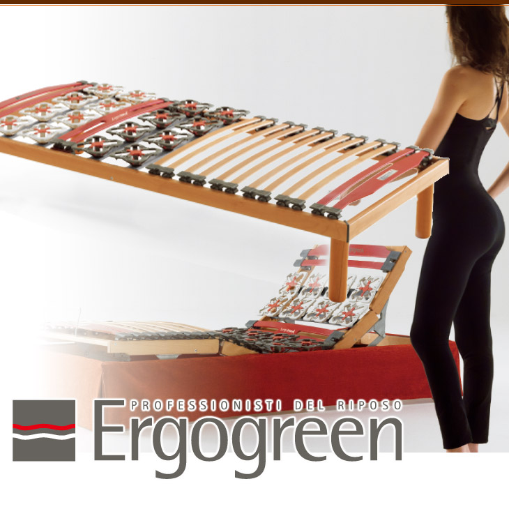 Ergogreen(エルゴグリーン) Ergomed(エルゴメッド)クィーンフレーム(セミシングル×2)ベッドフレーム【イタリア製】【送料無料】