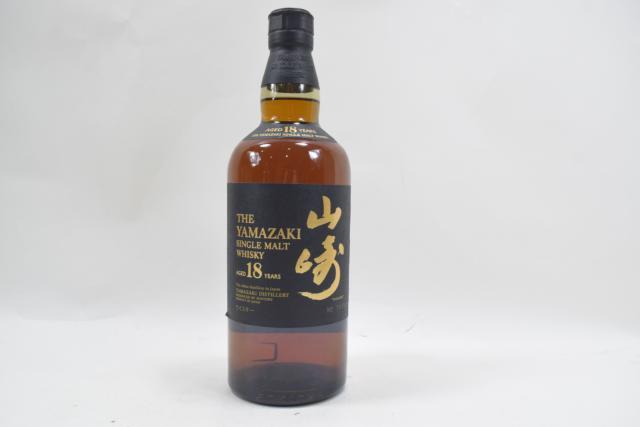 【未開栓】サントリー 山崎 18年 700ml シングルモルト ウイスキー 人気 希少 送料無料 【中古】