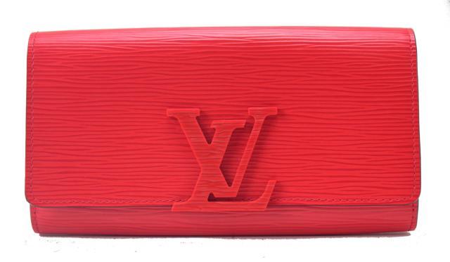 【中古】【美品】LOUIS VUITTON ルイヴィトン ポルトフォイユ ルイーズ エピ M60766 コクリコ 長財布