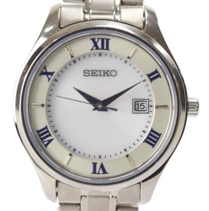 【中古】【美品】SEIKO セイコーセレクション チタン ソーラー ペアモデル レディース 腕時計 V137 STPX063 ソーラー電池時計
