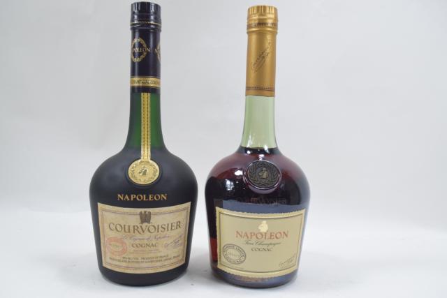 【未開栓】クルボアジェ COURVOISIER ナポレオン 古酒 700ml 2本セット まとめ 送料無料 【中古】