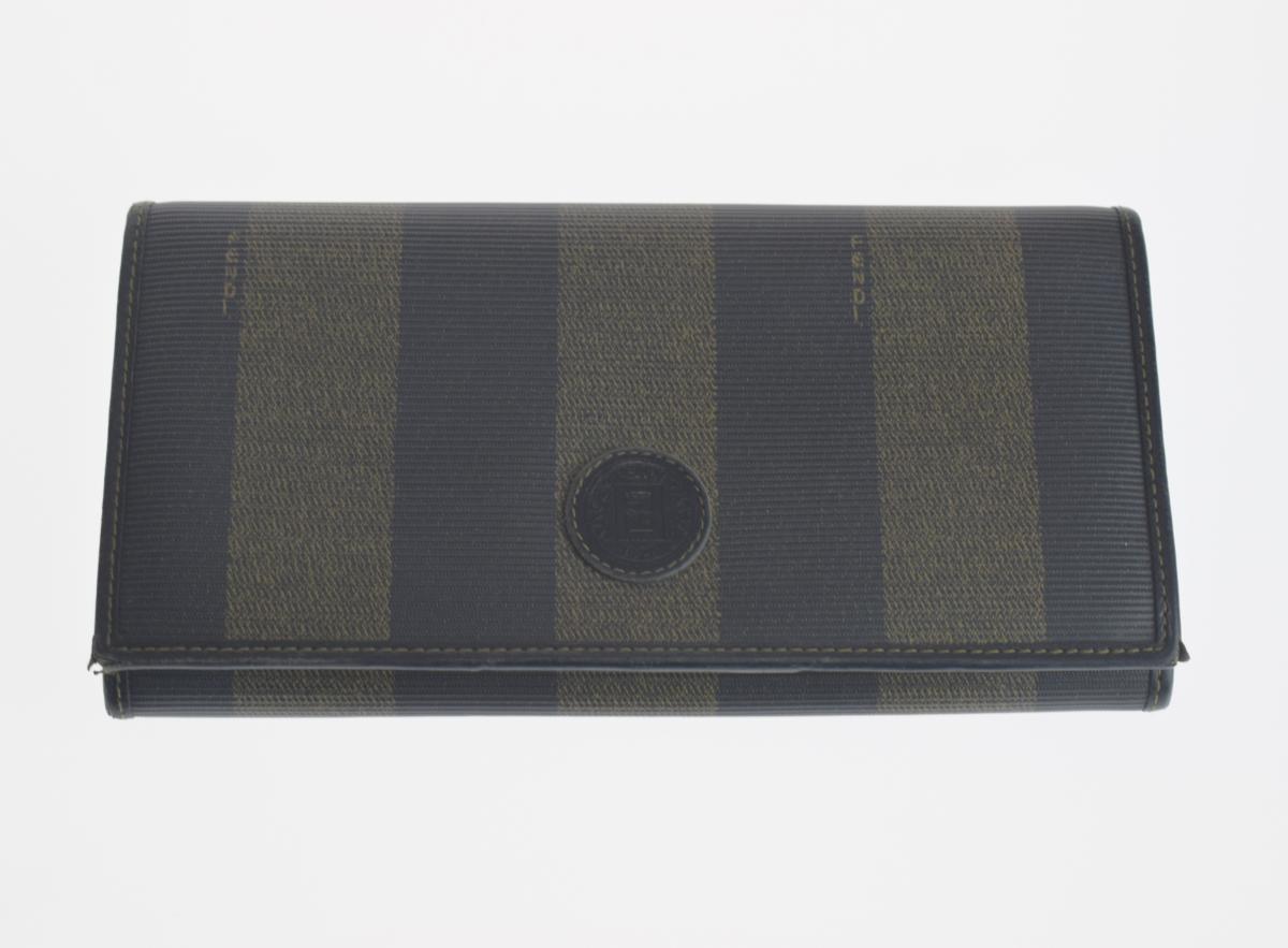 実店舗型買取専門店で仕入れた高品質なブランドアイテムを販売しています 安全 中古 高級な FENDI フェンディ ペカン柄 オールド 長財布 レディース ヴィンテージ