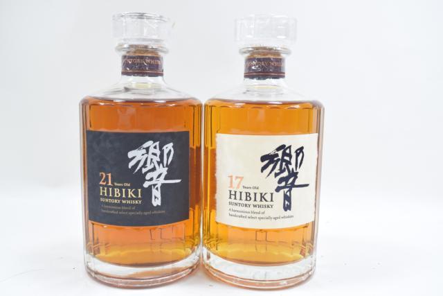 【未開栓】サントリー ウイスキー 響 HIBIKI 17年/21年 700ml 2本セット 希少 送料込み 【中古】
