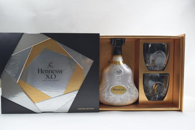 【未開栓】ヘネシー HENNESSY XO リミテッド エディション エクストラ オールド 700ml 箱・グラス2客付 【中古】