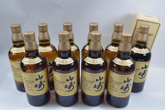 【未開栓】サントリー 山崎 12年 シングルモルト 700ml ウイスキー 10本セット まとめ 送料無料 【中古】