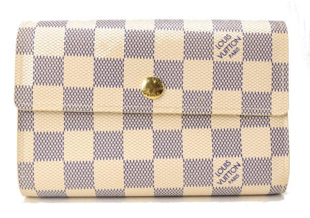 【中古】【美品】LOUIS VUITTON ルイヴィトン ポルトフォイユアレクサンドラ 未使用品 アズール N63068 2つ折り財布