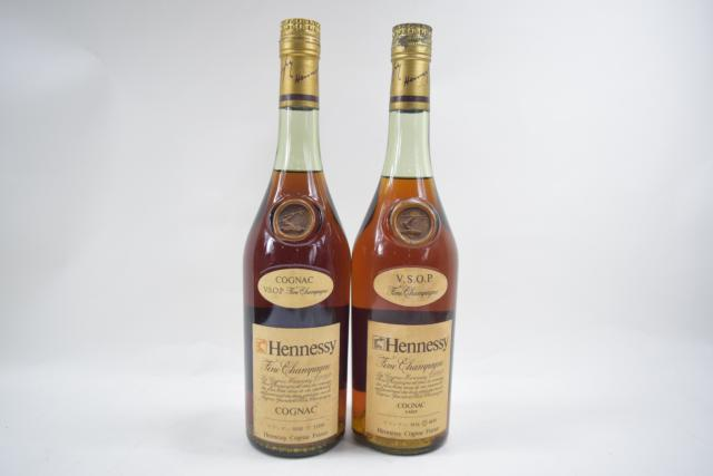 【未開栓】ヘネシー HENNESSY VSOP スリムボトル グリーンボトル 700ml 特級 2本セット 【中古】