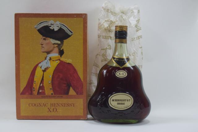 【未開栓】JAS HENNESSY ジャズヘネシー XO 金キャップ グリーンボトル 古酒 700ml 箱付 送料無料 【中古】