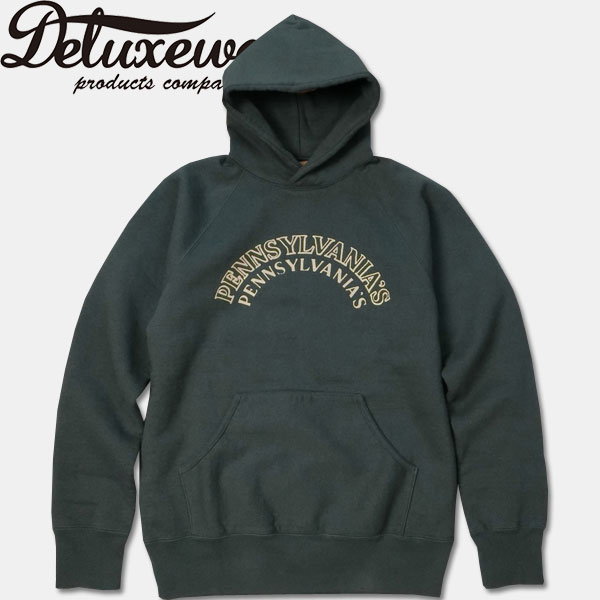 Deluxeware(デラックスウエアー)フードスウェットシャツ【SPL-03 PENNSYLVANIA】シルネイビー