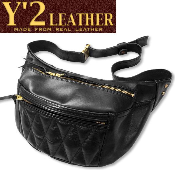 Y'2 LEATHER(ワイツーレザー)HORSE HODE WAIST BAG(ホースハイドウエストバッグ)【BR-09】