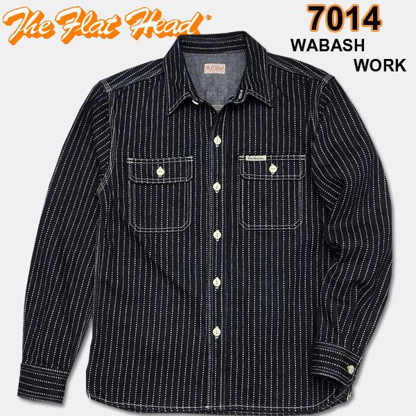 THE FLAT HEAD(フラットヘッド)ウォバッシュワークシャツ【7014W】