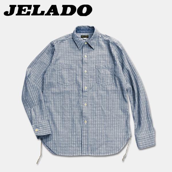 """JELADO (Gerard) 30 年代的提花织物""""卡特衬衫""""(ドビークロスカーター 衬衫) 靛蓝"""