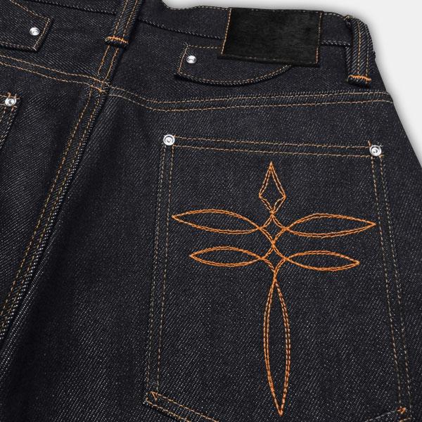 JELADO (Gerard ) XIRON HEART (iron heart ) collaboration jeans Indigo