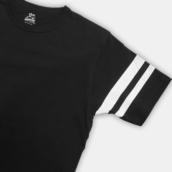 桃太郎牛仔裤津巴布韦天竺 T 恤衫黑色