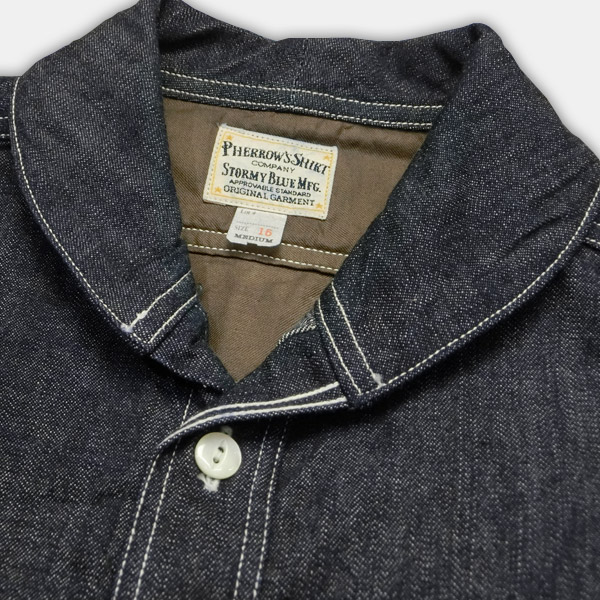 b4164039 ... PHERROW's (Fellows) long sleeve short colordenimwork t-shirt denim ...