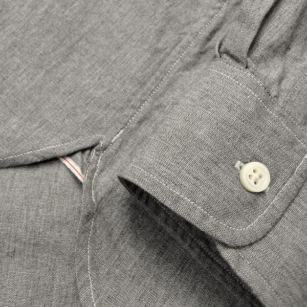 d4475c83 ... PHERROW'S (Fellowes) hidden button down chambray shirt 杢 gray chambray