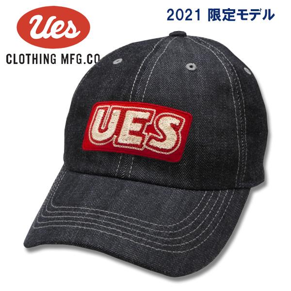'21限定モデル UES ウエス スクエアUESレッド 82DC-0 人気ブランド 激安挑戦中 '21限定デニムキャップ