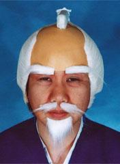 送料無料 本格町人 (白髪) 本格水戸黄門かつら 仮装 変装パーティー かぶりもの かつら オガワスタジオ 和風かつら