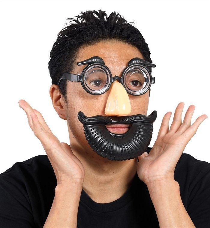 宴会の達人 鼻メガネ ビン底 変装 おもしろ雑貨 おもしろグッズ めがね 仮装