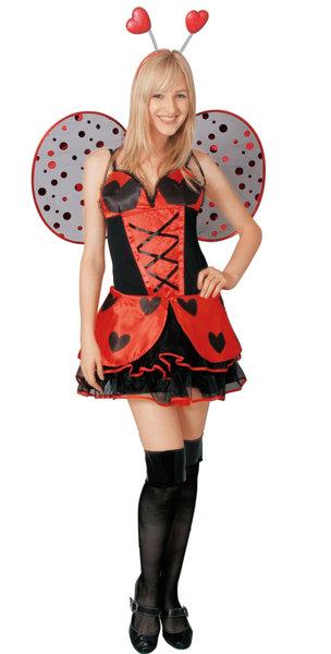 送料無料 在庫限り ミスレディバグ 大人 女性 衣装 ハロウィン 仮装 変装 てんとう虫 妖精 コスチューム コスプレ